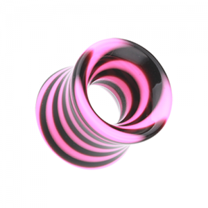 UV Marble Single Flare Flesh Tunnel